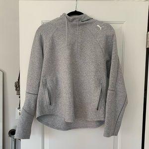 PUMA grey athletic hoodie